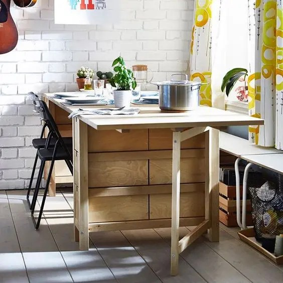 33 Ways To Use IKEA Norden Gateleg Table In Dcor  DigsDigs