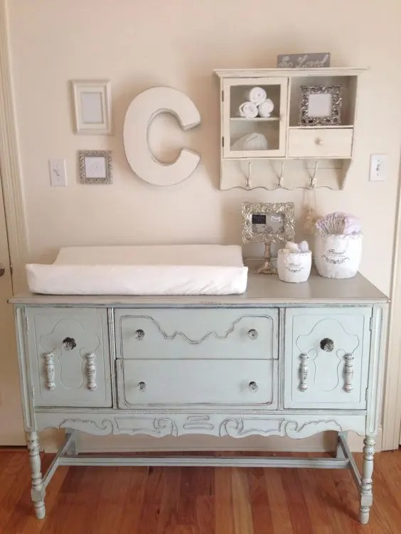 White Changing Table Dresser