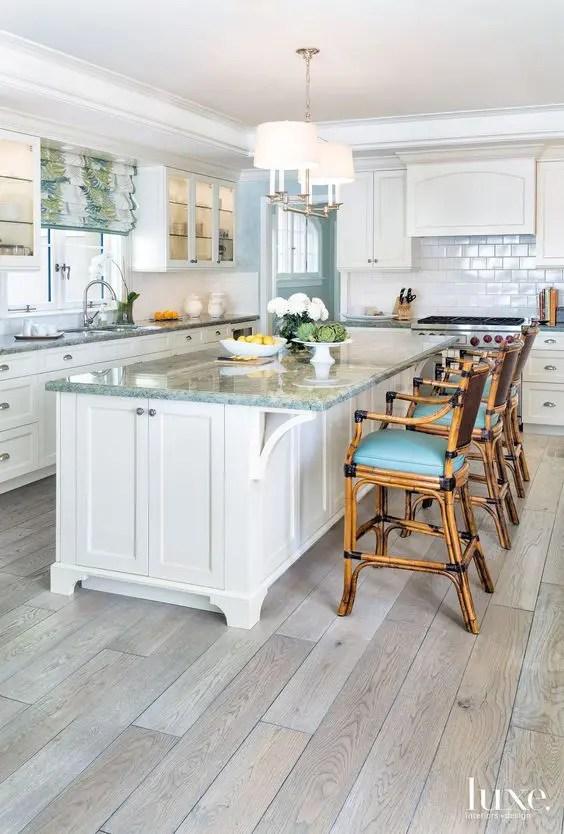 kitchen floors bosch mixer 30 practical and cool looking flooring ideas digsdigs laminate imitating greyish wooden