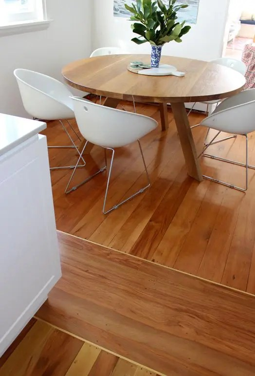kitchen accent table remodel mn 4 ways and 26 examples to ease the floor transition - digsdigs