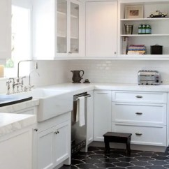 Tile Flooring Kitchen Ideas For Cabinets 3 Dark Floors Types And 26 To Pull Them Off Digsdigs Black Moroccan Style Tiles A Mid Century Modern With White