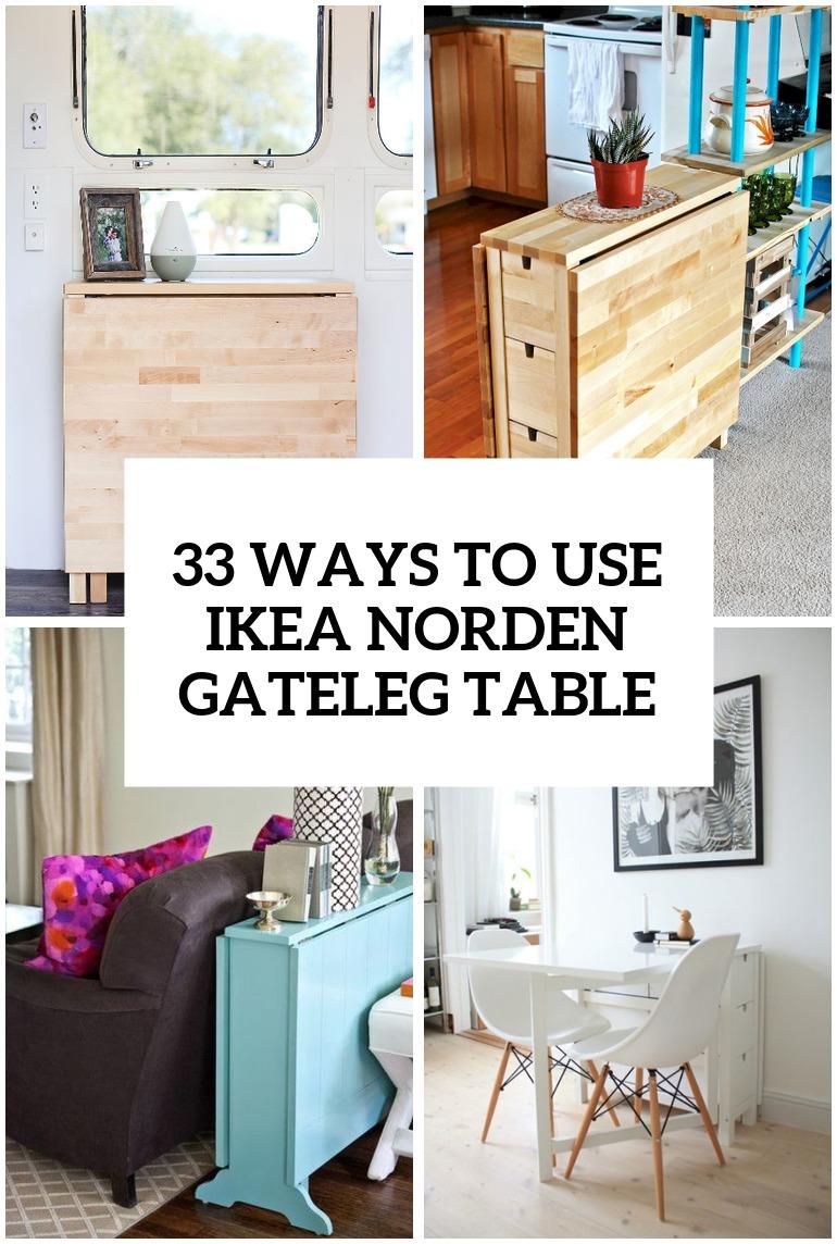 33 Ways To Use IKEA Norden Gateleg Table In Dcor  DigsDigs