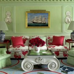 Green And Red Living Room Gray Rooms With Brown Furniture 27 Daring Interior Decor Ideas Digsdigs Soft Accentuated Rugs Pillows