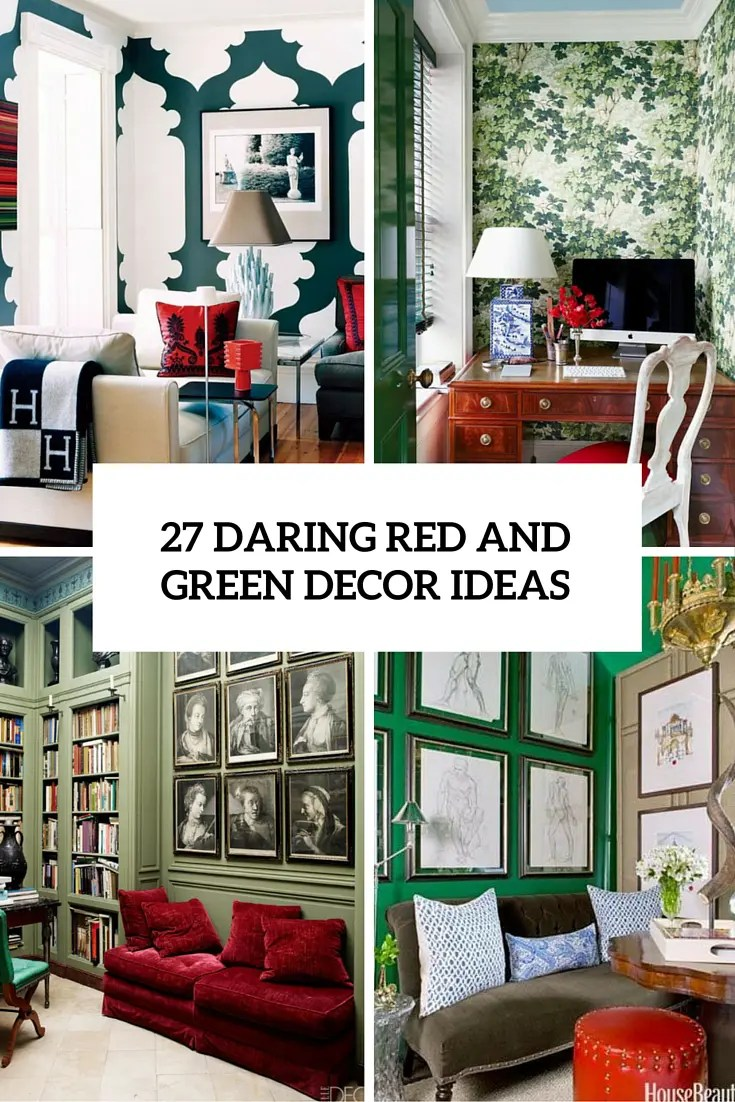 green and red living room ideas furniture australia 27 daring interior decor digsdigs cover