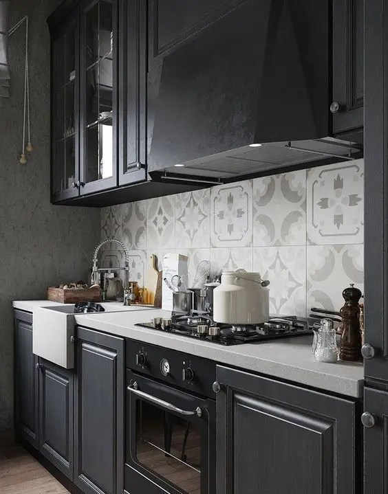 kitchen small appliances tables big lots 27 moody dark décor ideas - digsdigs