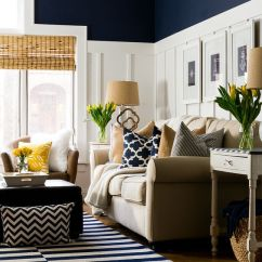 Wainscoting Ideas For Living Room Neutral Paint Colors 33 With Pros And Cons Digsdigs Navy Tall White