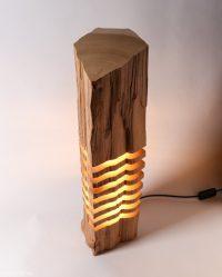 Split Grain Lamp Series Made Of Wood Remnants