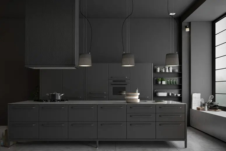 Monochromatic Kitchen