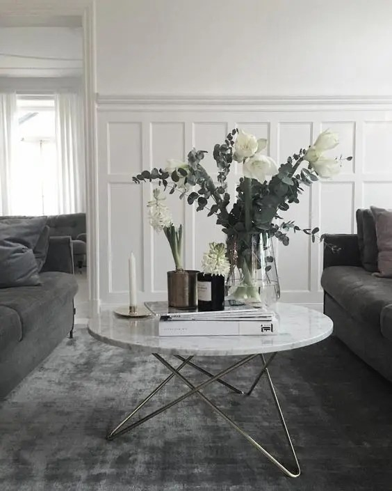 wainscoting ideas for living room rustic modern decor 33 with pros and cons digsdigs grey white