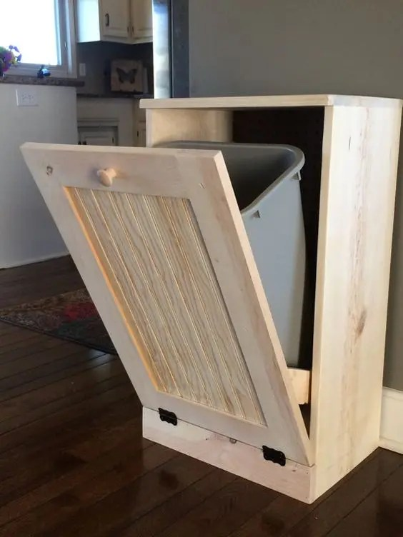 kitchen island with trash can rustic outdoor kitchens 47 smart ways to hide mess and household eyesores - digsdigs