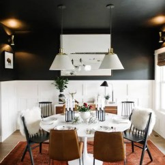 Chair Rail Pros And Cons Small Kitchen Tables Chairs 33 Wainscoting Ideas With Digsdigs Black Dining Room Walls White