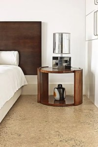 Picture Of textured warm cork floors for a modern bedroom