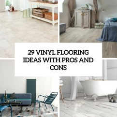 Soft Kitchen Flooring Options Table Counter Height 29 Vinyl Ideas With Pros And Cons - Digsdigs