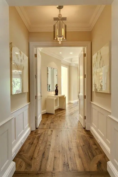 Furniture, bed, bedroom, room, bookcase, interior design, shelving, shelf. 31 Hardwood Flooring Ideas With Pros And Cons - DigsDigs