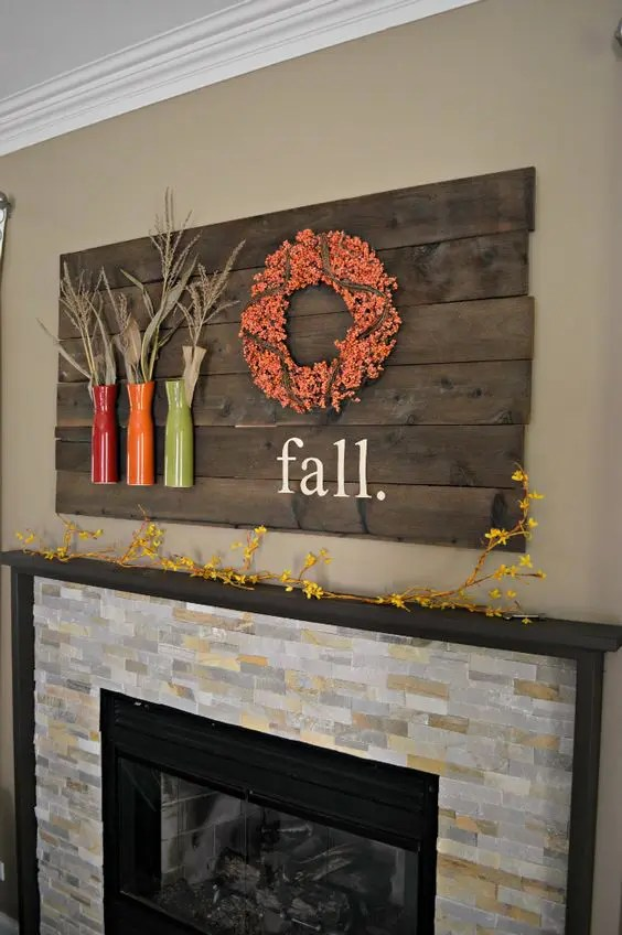 31 Cozy And Creative Fall Mantel Dcorating Ideas  DigsDigs