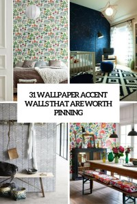 31 Wallpaper Accent Walls That Are Worth Pinning - DigsDigs