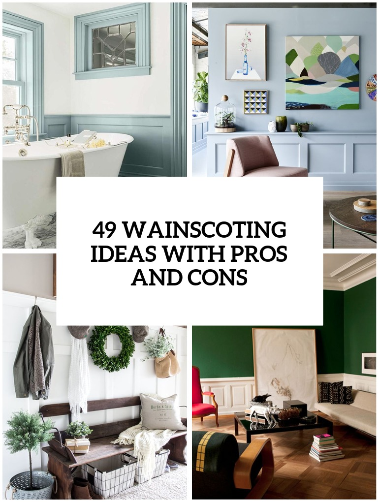 chair rail designs ideas chairs at walmart 33 wainscoting with pros and cons - digsdigs
