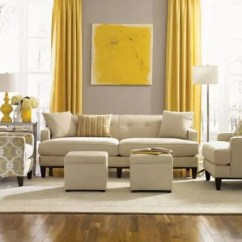 Grey Yellow Living Room Design Picture Of Designs 29 Stylish And Decor Ideas Digsdigs Dove Wall Contrasts With Sunny Curtains An Artwork The Is Infused