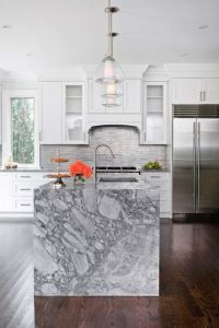 32 Trendy And Chic Waterfall Countertop Ideas - DigsDigs
