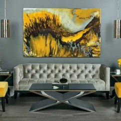 Yellow Gray And White Living Room Paint Ideas 29 Stylish Grey Decor Digsdigs Refined In Shades Looks Bolder With Chairs A Painting