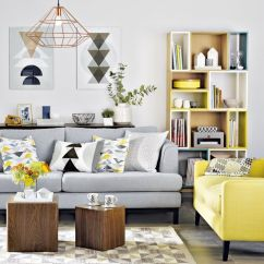 Grey Yellow Living Room Design Good Quality Furniture 29 Stylish And Decor Ideas Digsdigs A Light Sofa With Bright Chair In The Same Style