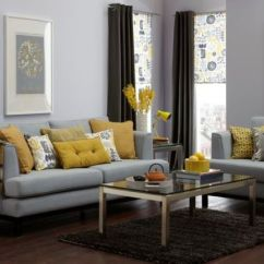 Grey Yellow Living Room How To Decorate Your Small For Christmas 29 Stylish And Decor Ideas Digsdigs Make An Accent In A Using Cushions Lamps Flowers