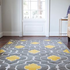 Gray White And Yellow Living Room Ideas L Shaped Set Up 29 Stylish Grey Decor Digsdigs Rug Can Help You Rock These Colors In A