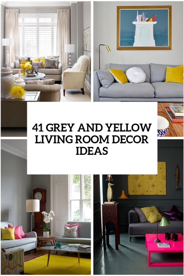 yellow and grey living room ideas