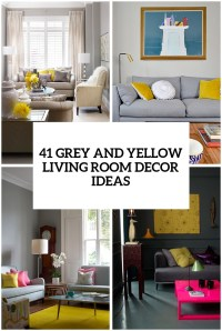 29 Stylish Grey And Yellow Living Room Dcor Ideas