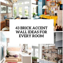 Faux Brick Kitchen Design Photos For Small Kitchens 30 Trendy Accent Wall Ideas Every Room - Digsdigs