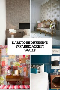 Dare To Be Different: 27 Fabric Accent Walls - DigsDigs