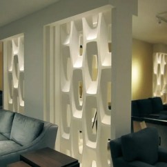 Wall Decor For Living Room India Red Sofa In Show-stopping Sculptural Partition Walls - Digsdigs