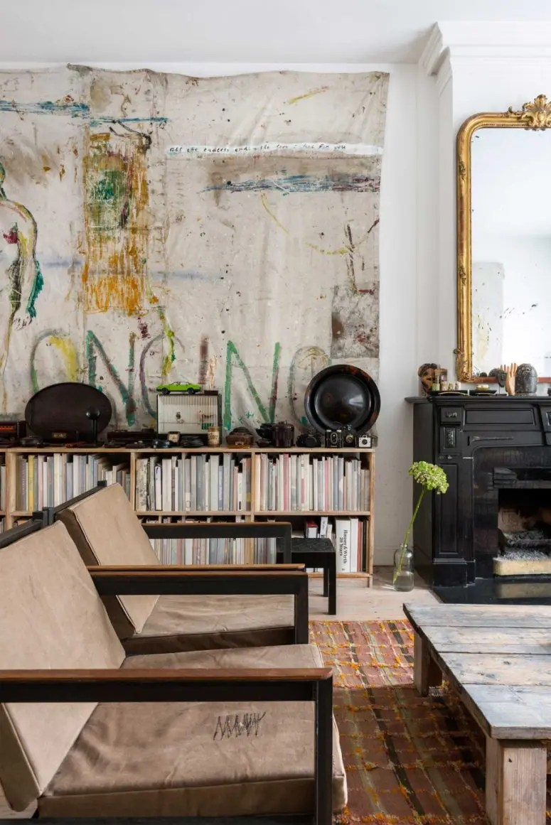 Eclectic Home With Industrial And Shabby Chic Touches