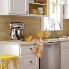 Blonde Kitchen Cabinets Ikea Backsplash 28 Creative Penny Tiles Ideas For Kitchens - Digsdigs