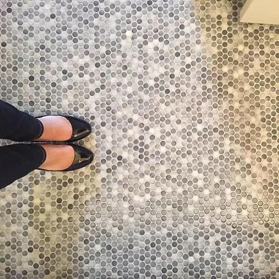 penny tiles ideas for bathrooms