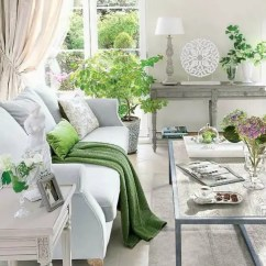 Light Grey Living Room Decor Paint Colors For And Dining 30 Green Ideas Digsdigs Exquisite Neutrals With Sage Accents Potted Plants