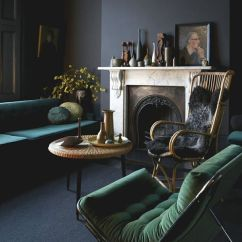 Black And Gray Living Room Decorating Ideas Marble Tables 30 Green Grey Decor Digsdigs Dark Moody With Grass Emerald Touches For A Chic Decadent Look