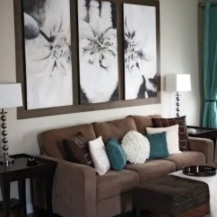Living Rooms With Blue And Brown Rustic Room 26 Cool Designs Digsdigs Peaceful Turquoise Pillows Draperies