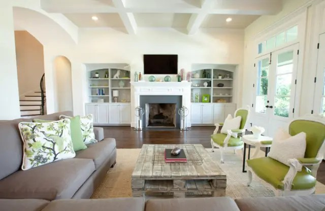 37 Green And Grey Living Room Dcor Ideas  DigsDigs