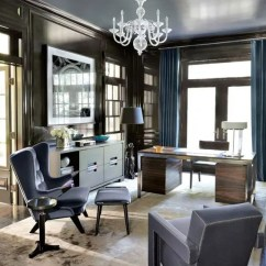 Living Rooms With Blue And Brown Room Arrangement Ideas Fireplace 26 Cool Designs Digsdigs Pairing Chocolate Paneling Cabinetry Lacquered Shelving A Reflective Ceiling