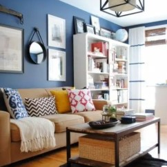Blue Living Room Walls With Brown Furniture Ideas Sofa Color 26 Cool And Designs Digsdigs Beige A Bold Accent Wall For An Eye Catchy Look