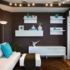 Chocolate Brown Living Room Chairs Decor Ideas For Small 33 Cool And Blue Designs Digsdigs Walls A Carpet Aqua Accessories