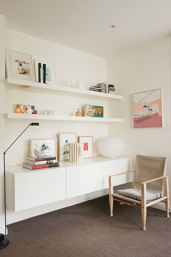 mid century modern living room interior design ideas for small rooms 37 ikea lack shelves and hacks - digsdigs