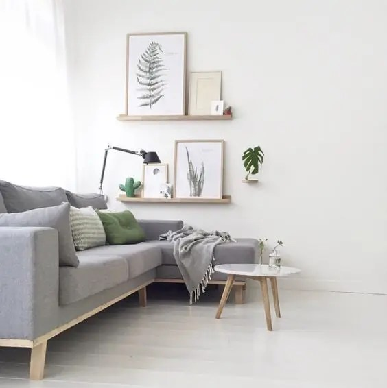 living room designs with grey walls blue sofa 37 green and decor ideas digsdigs light touches botanical decorations