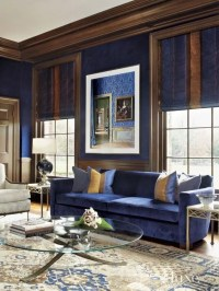 Miscellaneous : Brown And Blue Living Room ~ Interior ...
