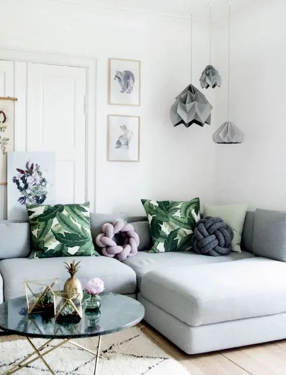 pictures of light grey living rooms room decorating ideas uk 30 green and decor digsdigs with botanical details in rich shade
