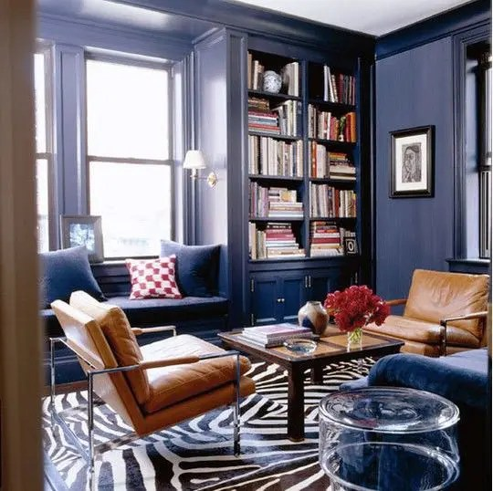 brown living room chairs furniture black 26 cool and blue designs digsdigs navy space with tan leather a coffee table