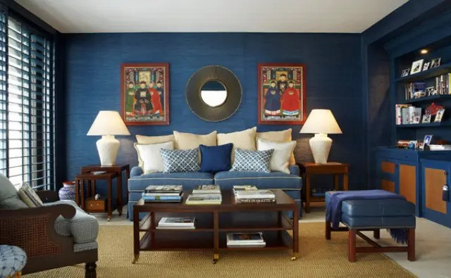 Blue And Brown Living Room Images Centerfieldbarcom