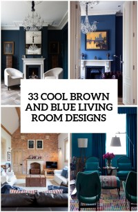 Blue And Brown Living Room