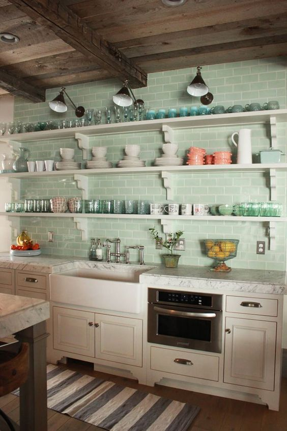 use subway tiles in the kitchen